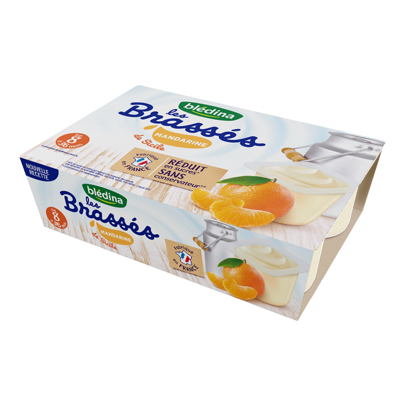 Les Brassés Mandarine - 6x95g