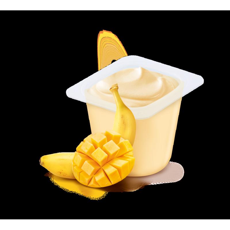 Les Brassés Banane Mangue - 6x95g
