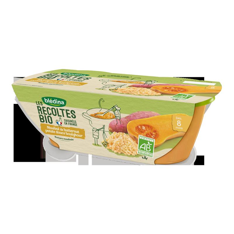 Les récoltes Bio Butternut patate douce boulghour - 2x200g