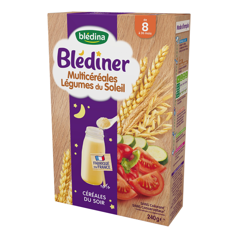 Blédîner - Multicéréales Légumes du Soleil - 240g