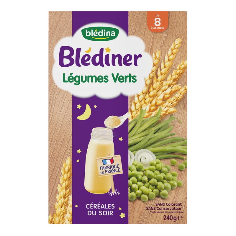 Blédîner - Semoule Légumes verts - 240g
