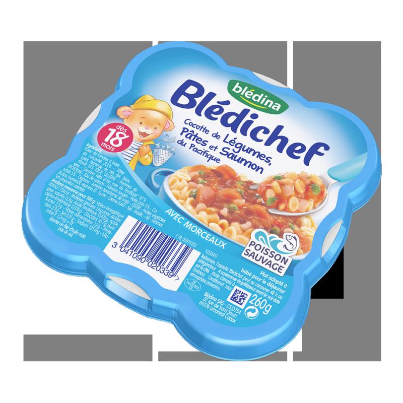 Blédichef Cocotte de légumes Saumon - 260g