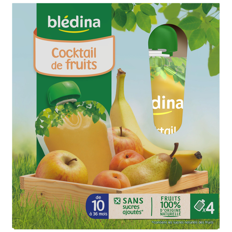 Gourdes Cocktail de Fruits - 4x90g