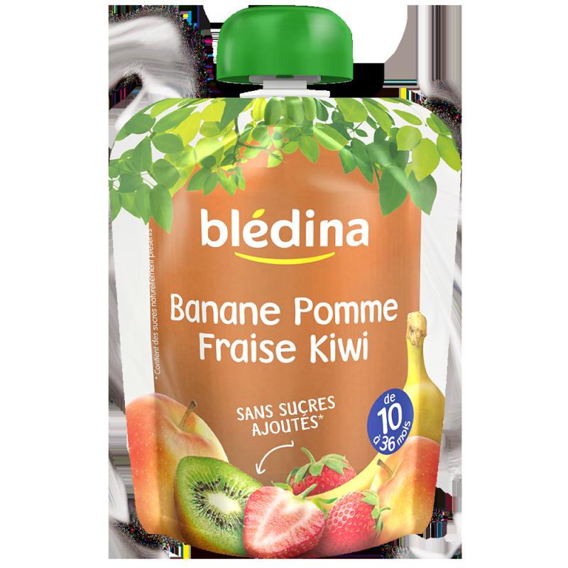 Gourdes Banane Pomme Fraise Kiwi - 4x90g