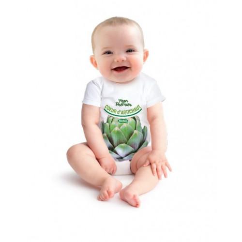 Body Mon 1er coeur d'artichaut - 12 mois