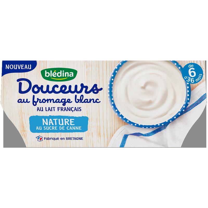 Douceurs au fromage blanc Nature au sucre de canne