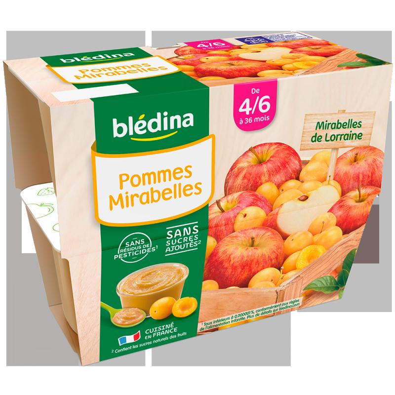 Coupelles Pommes Mirabelles