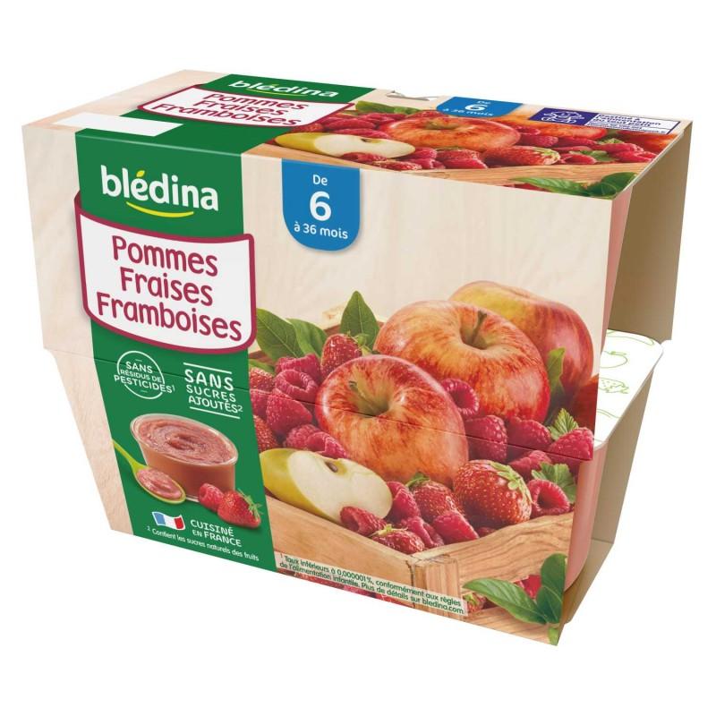 Coupelles Pommes Fraises Framboises