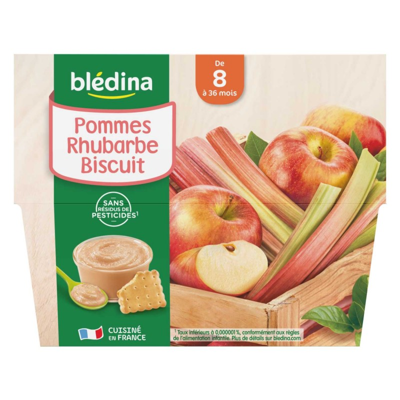 Coupelles Pommes Rhubarbe Biscuit