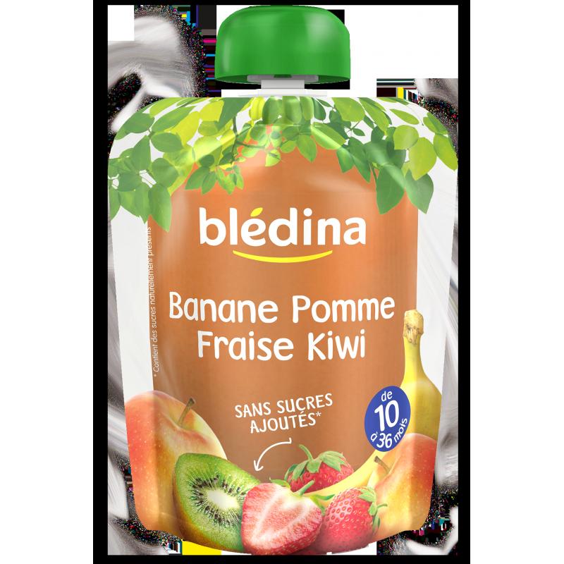 Pack Gourdes Bananes Pomme Fraise Kiwi