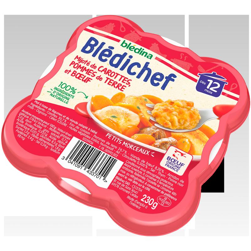 Blédichef Mijoté de carottes, pommes de terre et bœuf