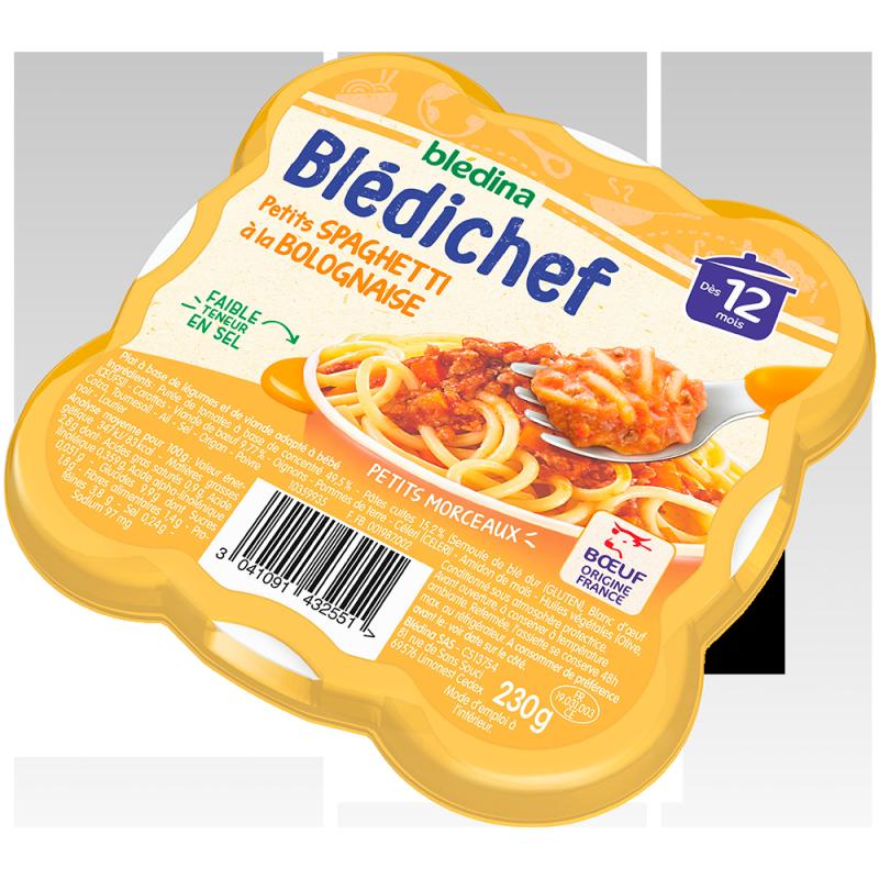 Blédichef Petits spaghetti à la bolognaise