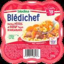 Blédichef Petites pâtes et bœuf façon bourguignon