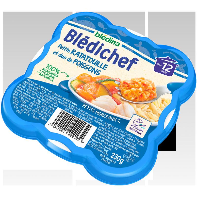 Blédichef  Petite ratatouille et duo de poissons