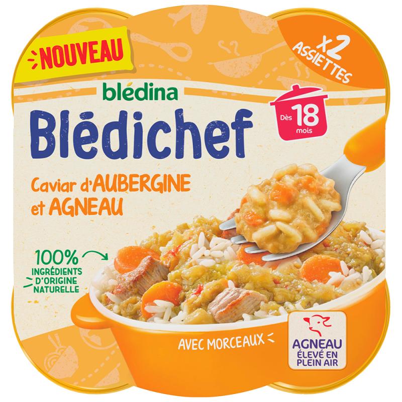 Blédichef - Caviar d'Aubergine et Agneau - 2x250g