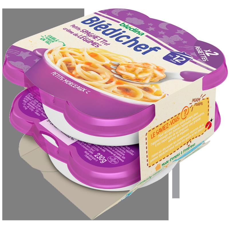 Blédichef Petits spaghetti et crème de légumes