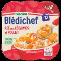Blédichef Riz aux légumes et poulet