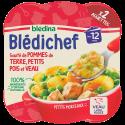 Blédichef Sauté de pommes de terre, petits pois et veau