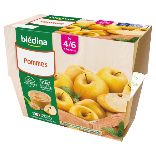 Lot Coupelles Fruits Pommes