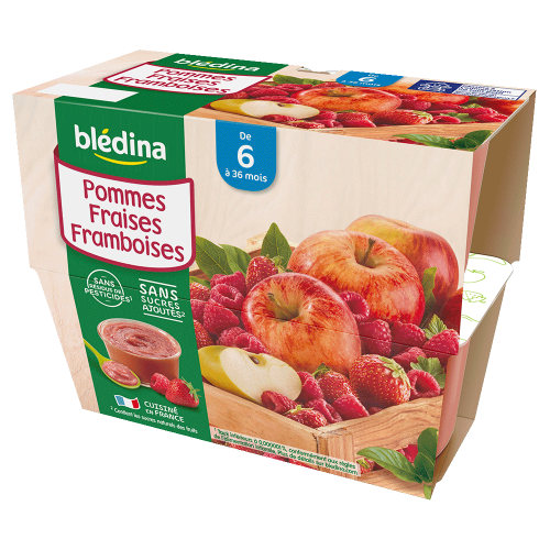 Pack Coupelles Fruits Pommes Fraises Framboises