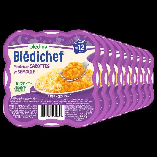 Pack Blédichef Mouliné de carottes et semoule