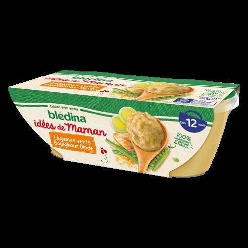 Pack Idées de Maman Légumes verts Boulghour Dinde