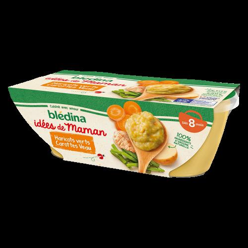 Pack Idées de Maman Haricots verts Carottes Veau
