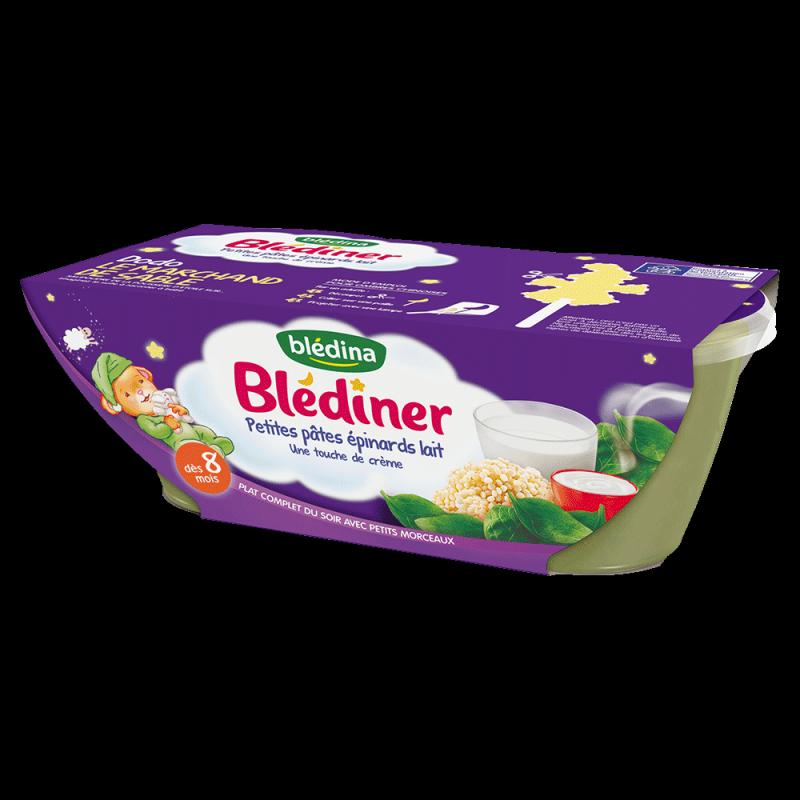 Pack Blédîner Petites pâtes épinards lait