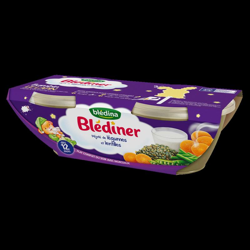Pack Blédîner Mijoté de légumes et lentilles