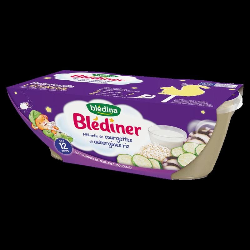 Pack Blédîner Méli mélo de Courgettes aubergines Riz
