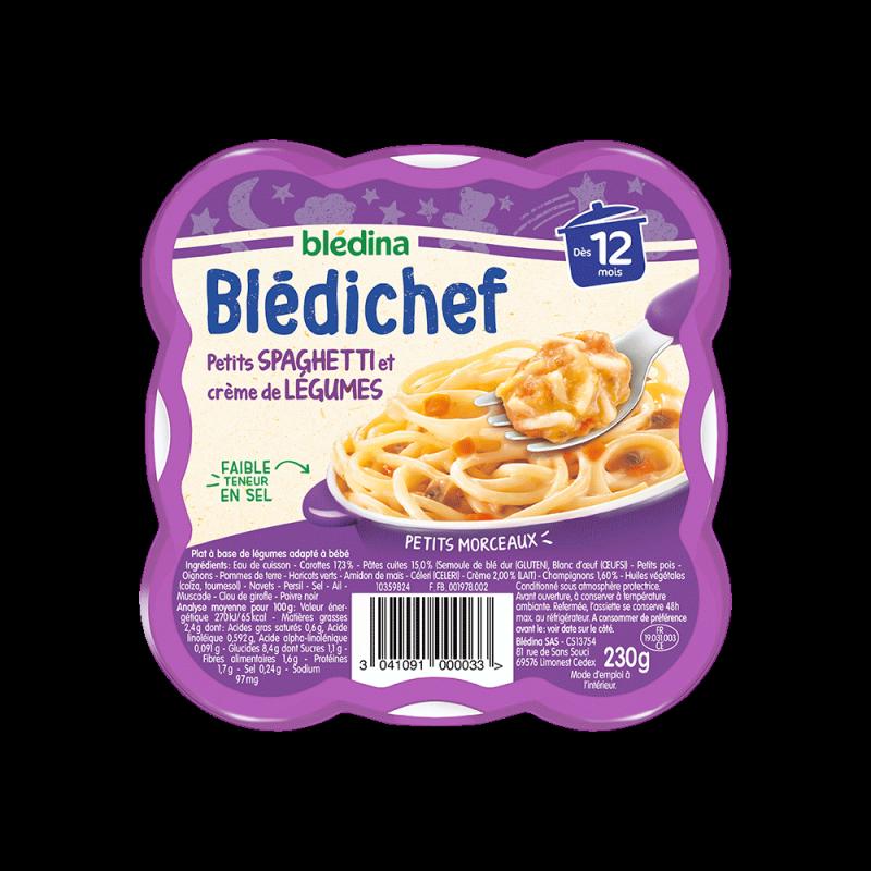 Pack Blédichef Petits Spaghetti et crème de légumes
