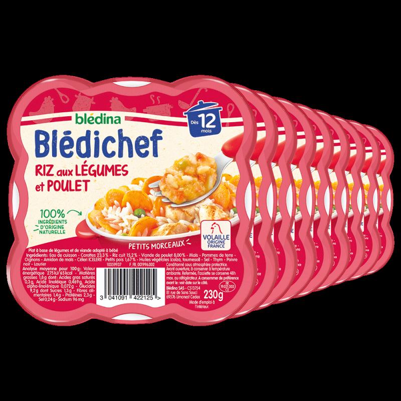 Pack Blédichef Riz aux Légumes et Poulet