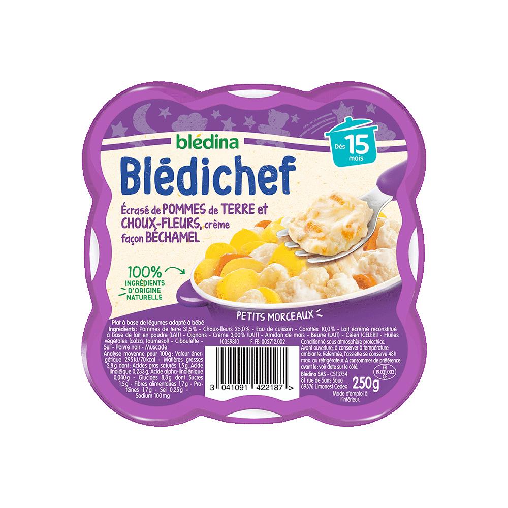 Pack Blédichef Ecrasé de pommes de terre et choux-fleurs, crème façon béchamel