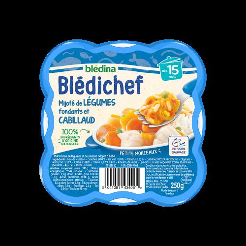 Pack Blédichef Mijoté de légumes fondants et cabillaud