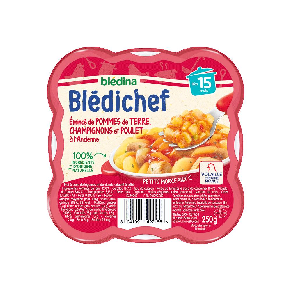 Pack Blédichef Emincé de pommes de terre, champignons et poulet à l'ancienne