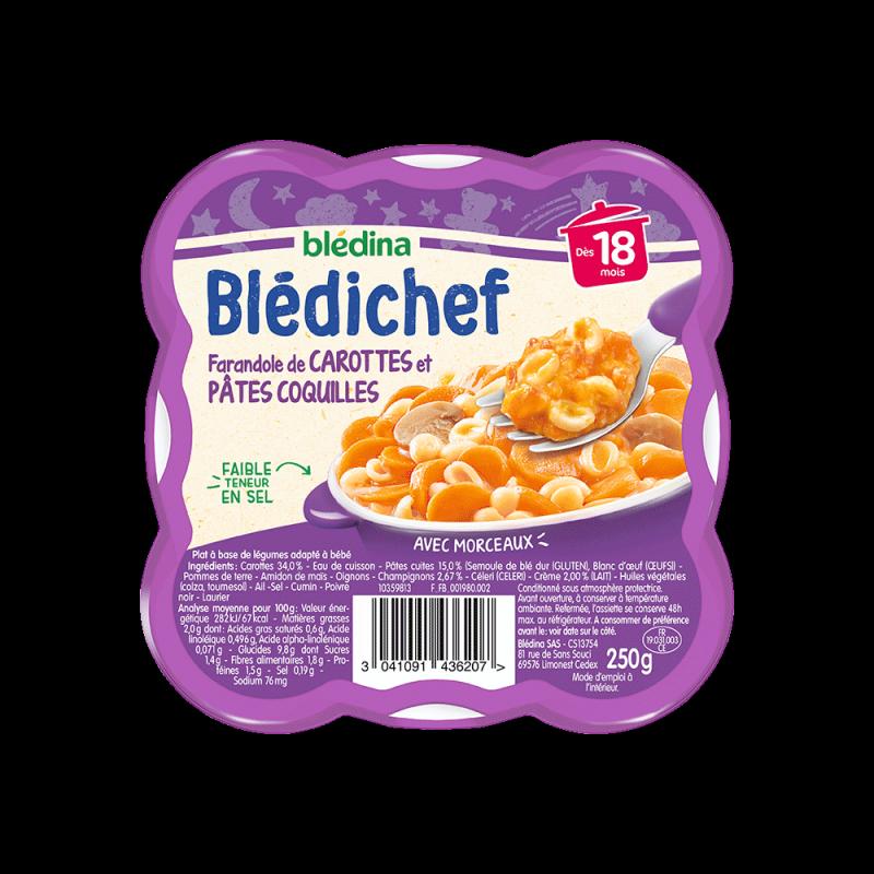 Pack Blédichef Farandole de carottes et pâtes coquilles