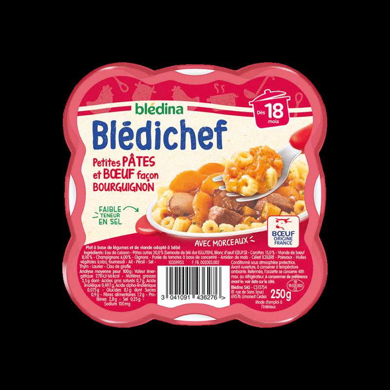 Pack Blédichef Petites pâtes et bœuf façon bourguignon