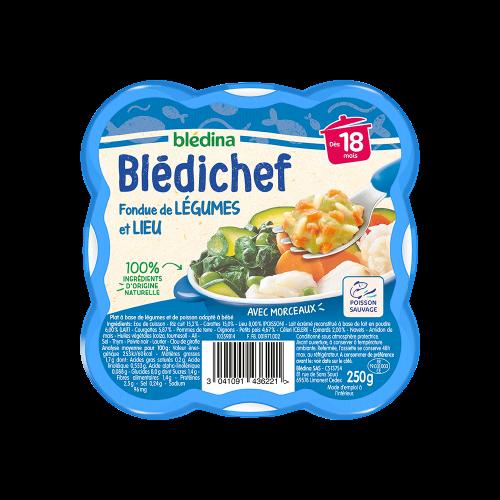Pack Blédichef Fondue de légumes et lieu
