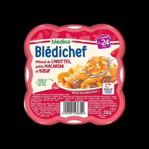 Pack Blédichef Mitonné de carottes, petits macaroni et bœuf