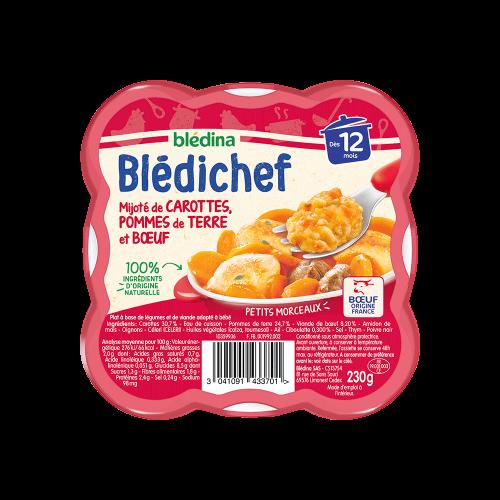 Pack Blédichef Mijoté de carottes, pommes de terre et bœuf
