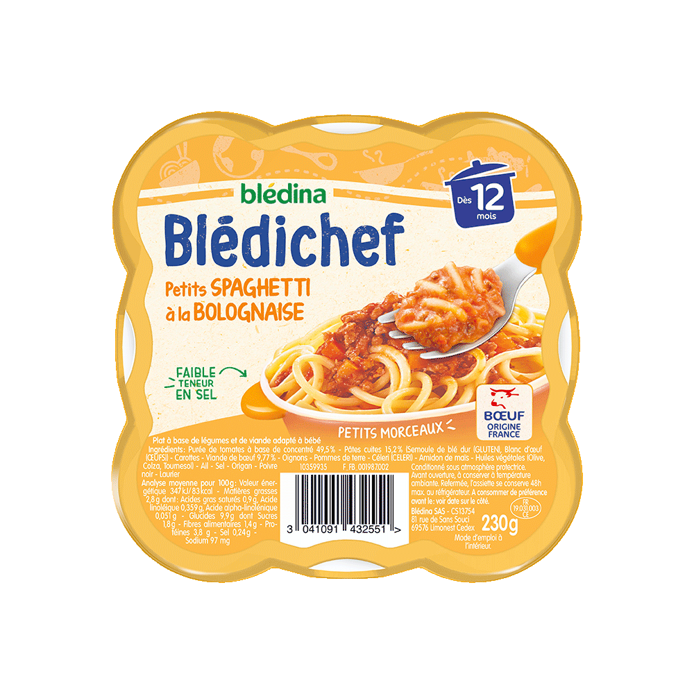 Pack Blédichef Petits spaghetti à la bolognaise
