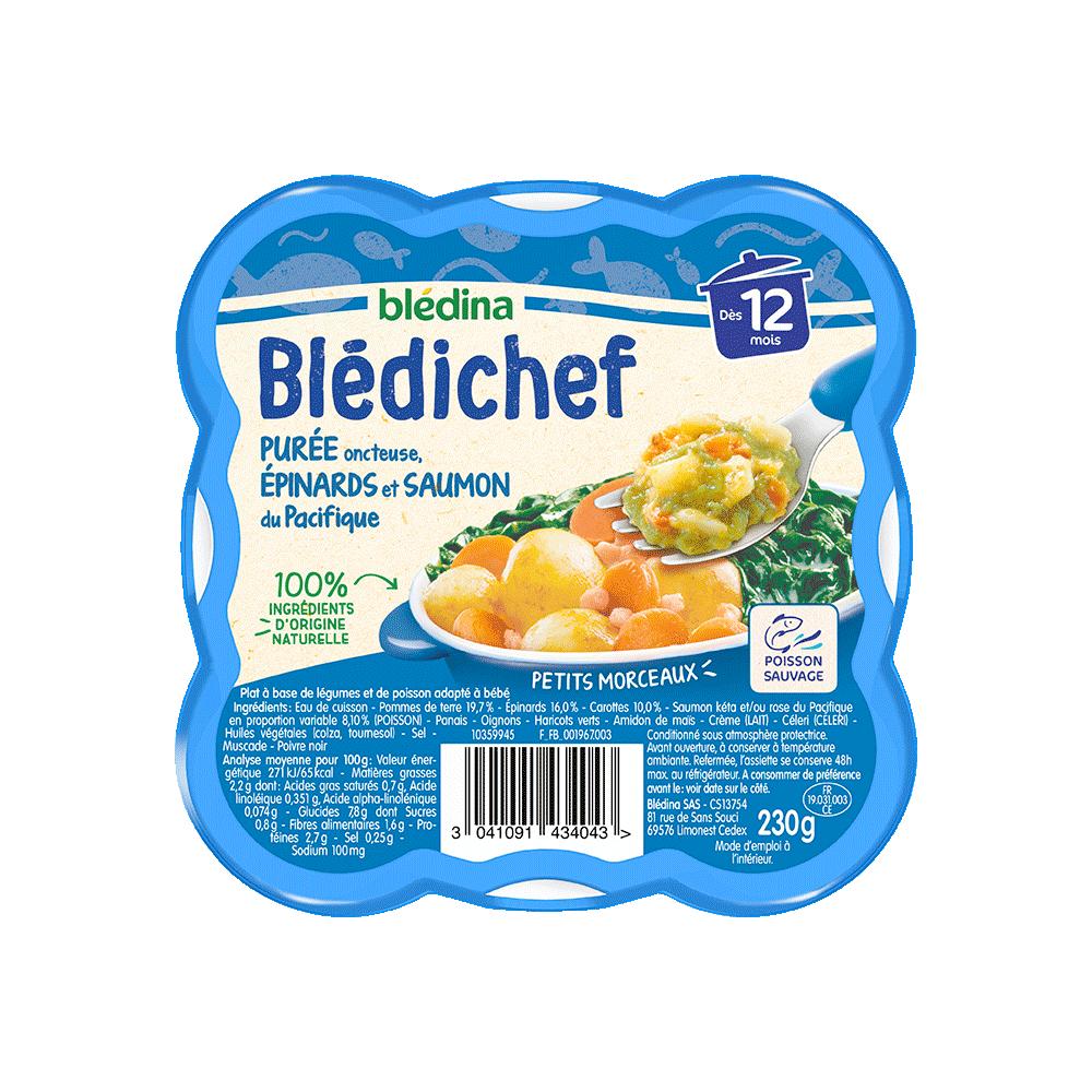 Pack Blédichef Purée oncteuse épinards et saumon du Pacifique