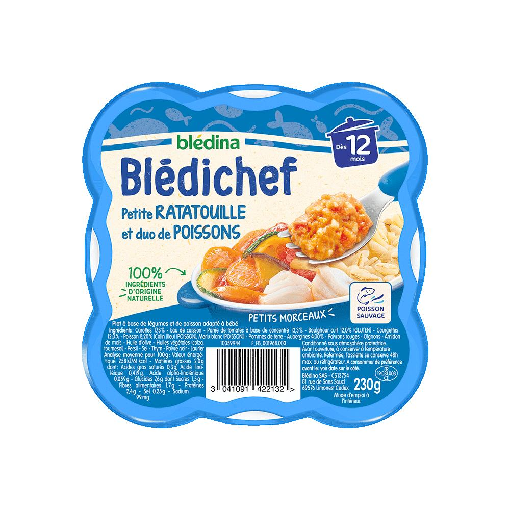 Pack Blédichef Petite ratatouille et duo de poissons
