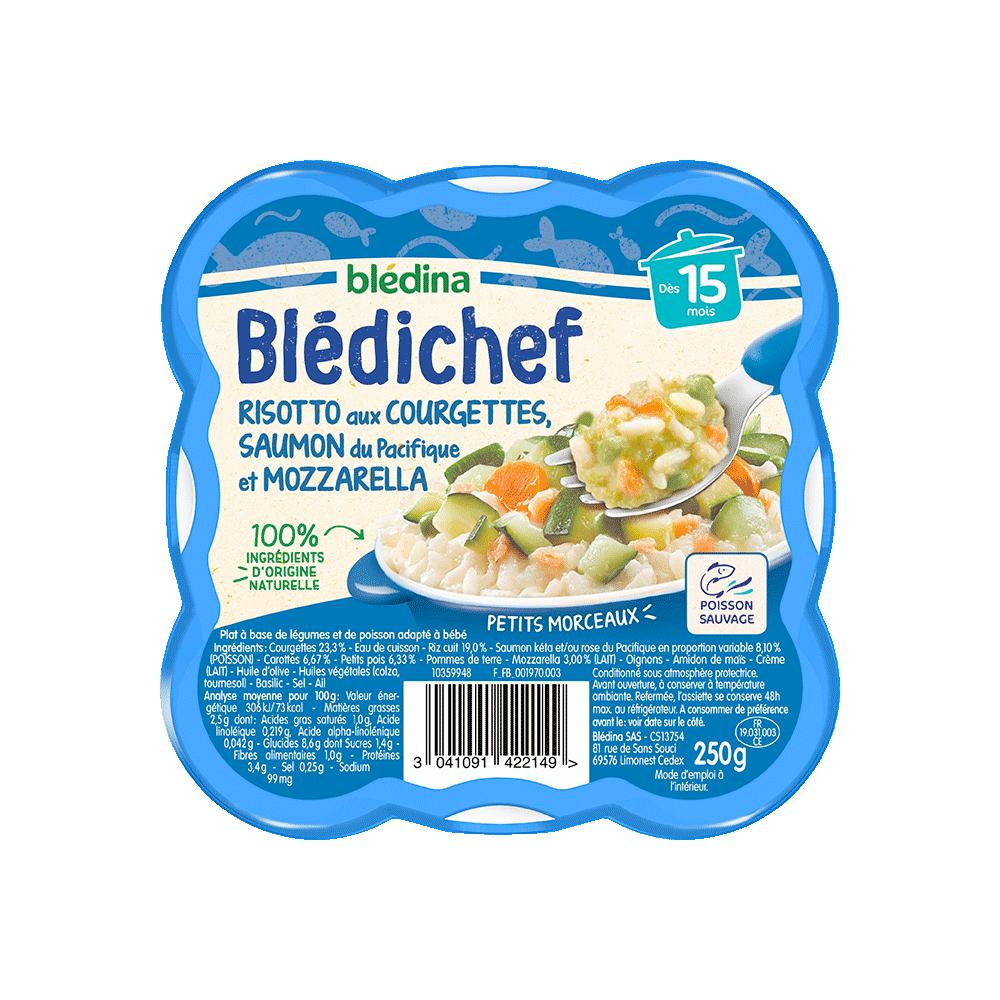 Pack Blédichef Risotto aux Courgettes Saumon du pacifique et Mozzarella