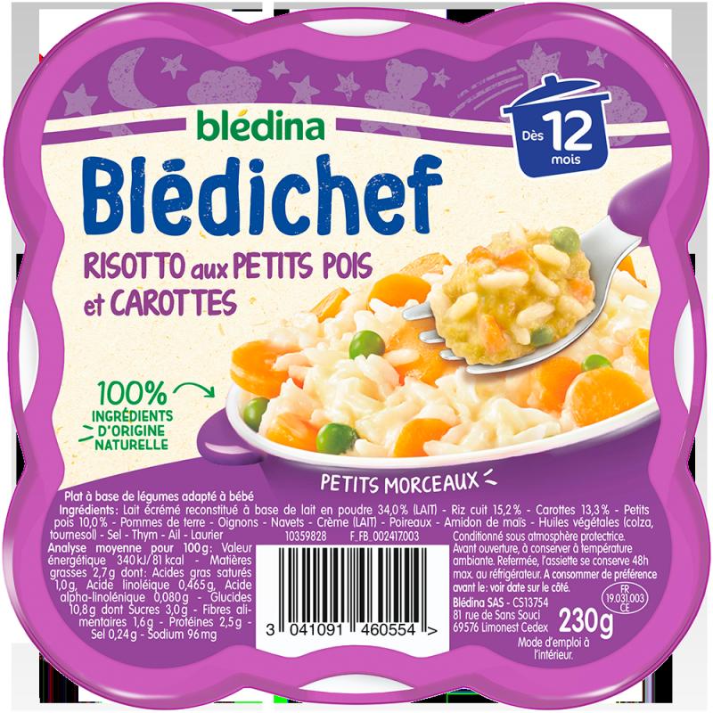 Blédichef Risotto aux petits pois et carottes