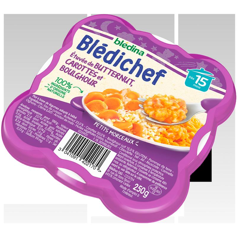 Blédichef Etuvée de butternut, carottes et boulghour