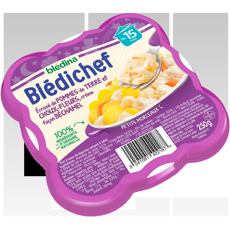 Blédichef Ecrase de pommes de terre et choux-fleurs, crème façon béchamel