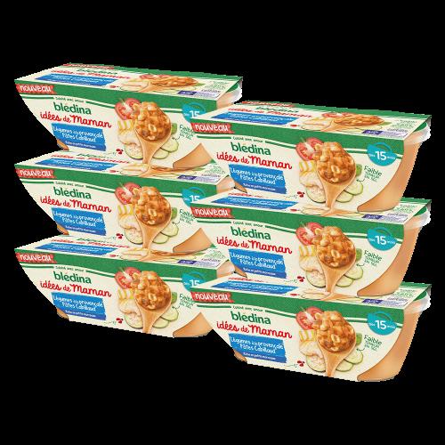 Pack Idées de Maman Légumes à la provençale Pâtes Cabillaud
