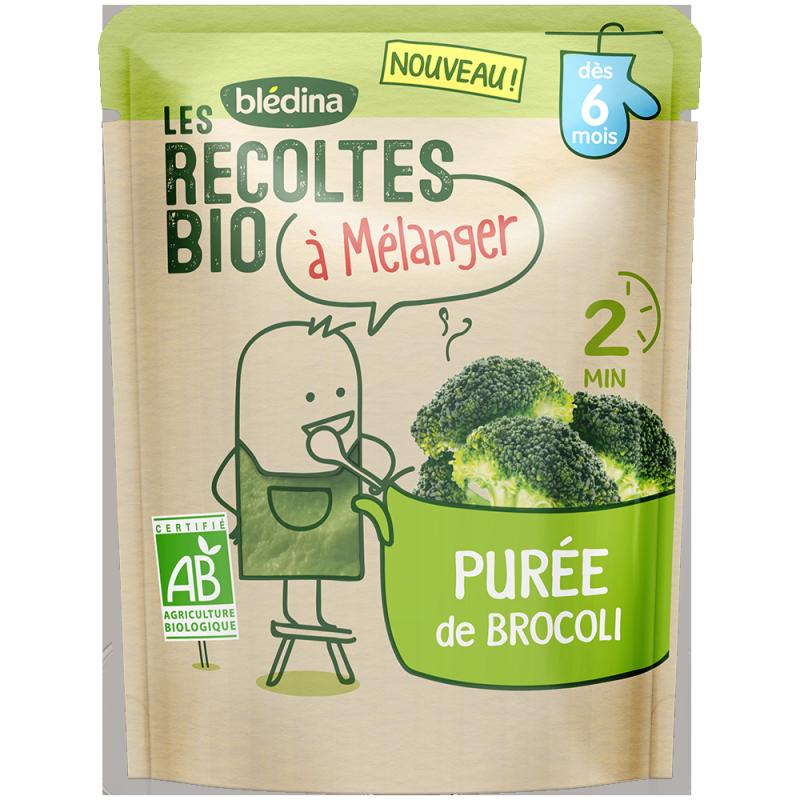 Les récoltes bio à mélanger Purée de Brocoli