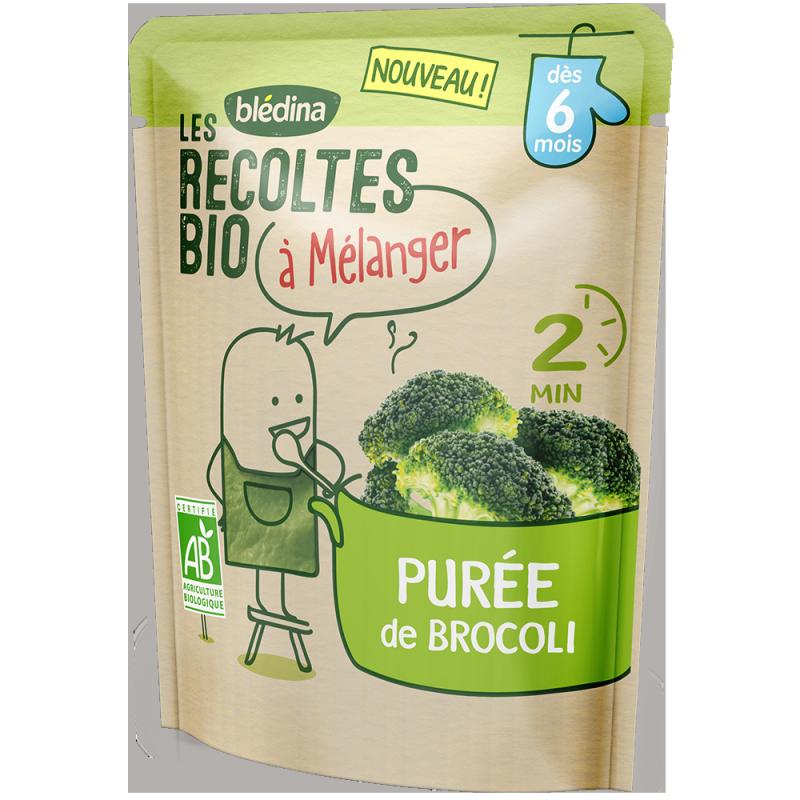 Purée de Brocoli Les récoltes bio à mélanger